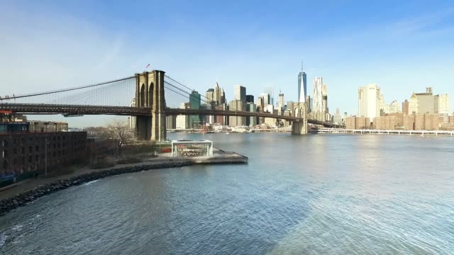 Brooklyn Bridge and Manhattan skyline video