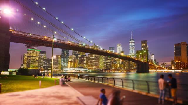 Brooklyn bridge at night video