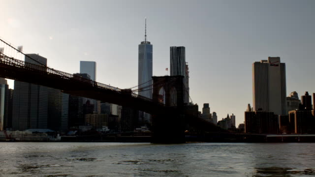 Brooklyn bridge in New York city video
