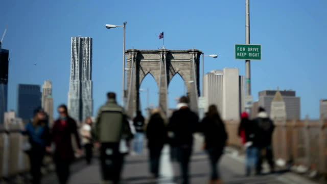 Brooklyn Bridge, NYC (Tilt shift lens) video