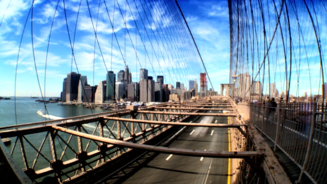 brooklyn bridge  time-lapse - gothic architecture stock videos & royalty-free footage
