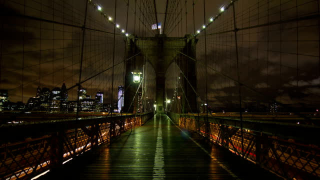 brooklyn bridge - black and white architecture stock videos & royalty-free footage