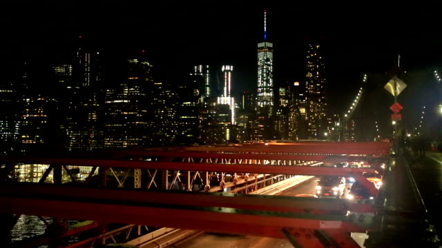 Brooklyn Bridge Brooklyn Bridge, Cars, Taxi & Manhattan in NewYork manhattan bridge stock videos & royalty-free footage