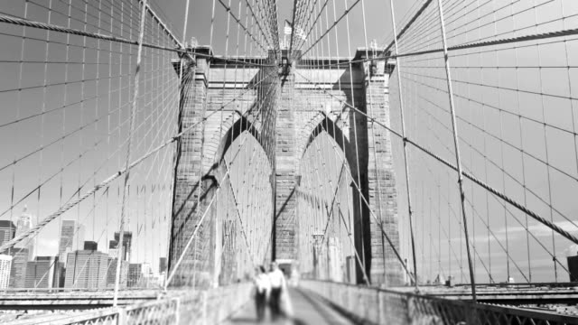 Brooklyn Bridge Zoom 5) Zooming time lapse of Brooklyn bridge in New York. bridge built structure stock videos & royalty-free footage