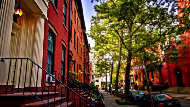brooklyn street - american architecture stock videos & royalty-free footage