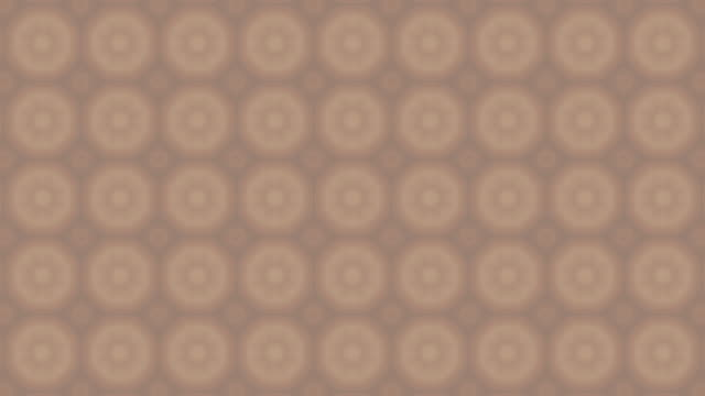 Brown Circle Star Kaleida Background stock video Loopable