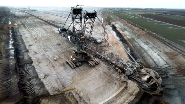 AERIAL: Brown Coal Excavator