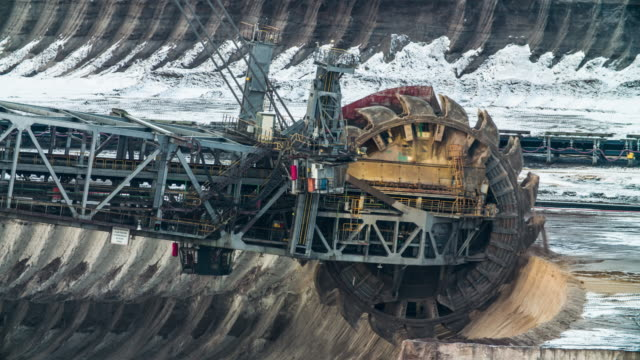 brown coal mining - anidride carbonica video stock e b–roll