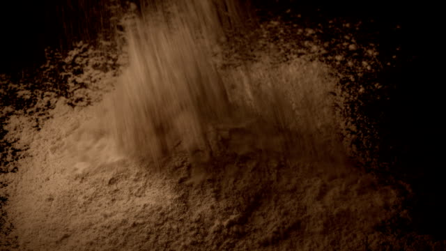 Brown Powder Is Poured Into Pile Brown powder pours into pile closeup shot painting art product stock videos & royalty-free footage