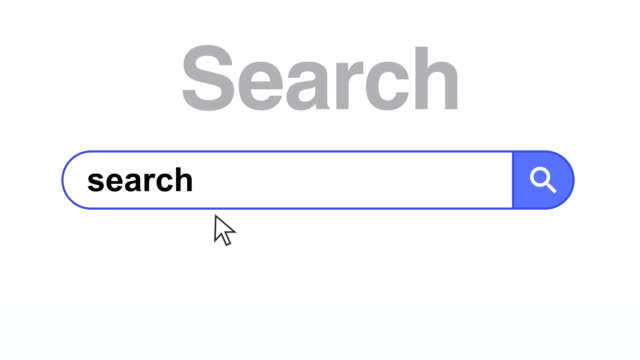 Browser or web page with a search box for internet searching