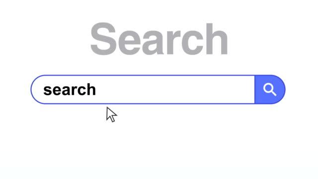 vídeos y material grabado en eventos de stock de navegador o página web con un buscador para la búsqueda en internet - seo