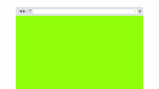 Browser Window With Blank Green Screen