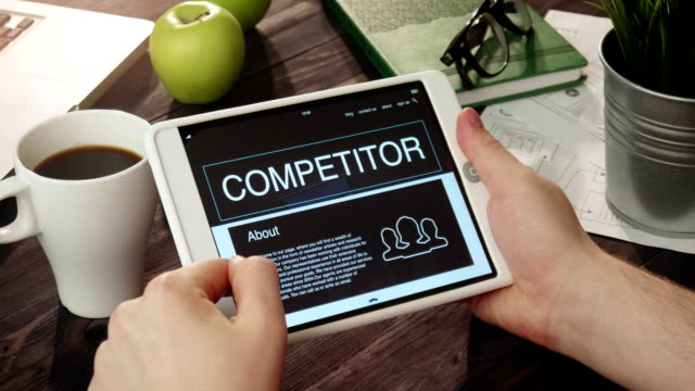 Browsing competitor's web page using digital tablet