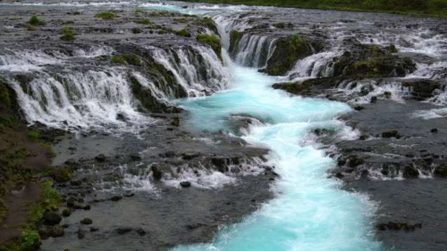 Bruarfoss Wasserfall in Brekkuskogur, Island. – Video