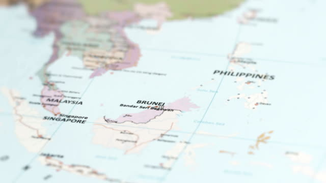 Asia Brunei On World Map Stock Video More Clips Of 4k Resolution