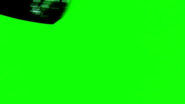 ブラシ塗装緑色の画面 - ブラシ点の映像素材/bロール