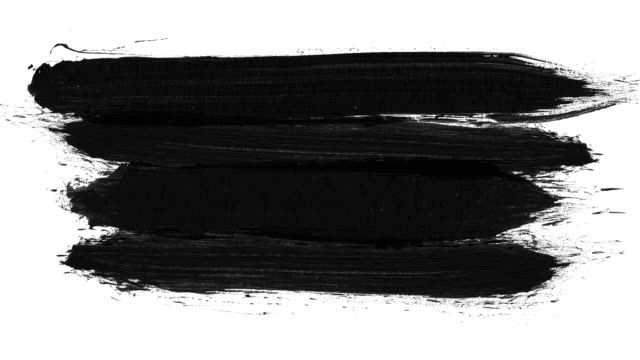 brush stroke black and white transition background. animation of paint splash in 4k. digital on-screen graphic footage. abstract background for ad and presentations - scarabocchio motivo ornamentale video stock e b–roll