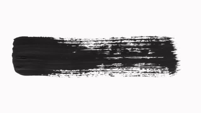 vidéos et rushes de brush stroke set - pinceau