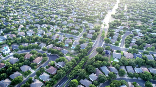 brushy creek suburbs north of austin , texas - città diffusa video stock e b–roll