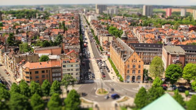 Brussels Cityscape Time Lapse Tilt Shift video