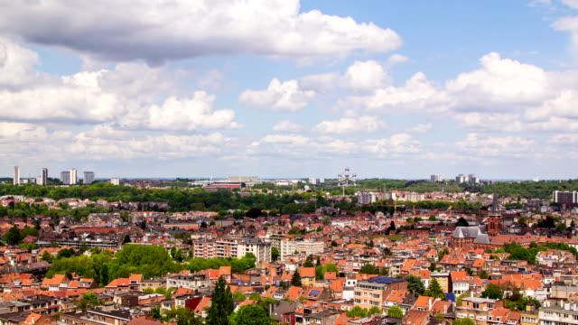 paesaggio urbano di bruxelles time lapse - belgio video stock e b–roll