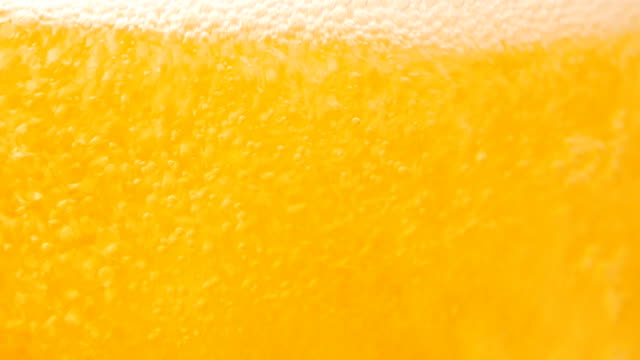 Bubble beer close-up