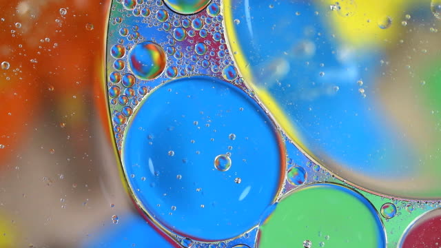Bubble oil colorful on water Bubble oil colorful on water cooking oil stock videos & royalty-free footage