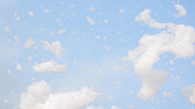 Bubbles in blue sky video