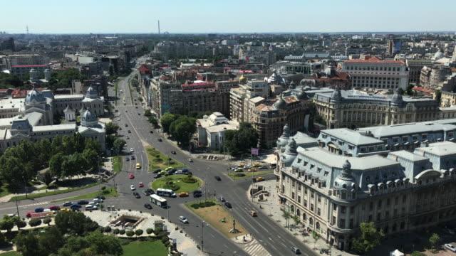 Bucharest aerial video