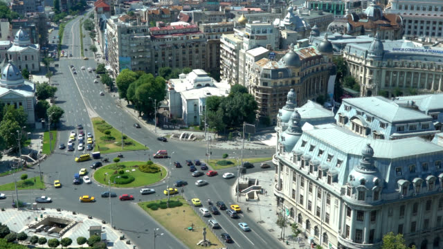 Bucharest from above, zoom out video