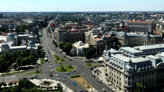 Bucharest timelapse aerial video