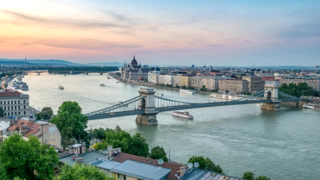 Budapest city skyline at Danube River day to night timelapse, Budapest, Hungary 4K time lapse Budapest city skyline at Danube River day to night timelapse, Budapest, Hungary 4K time lapse hungary stock videos & royalty-free footage