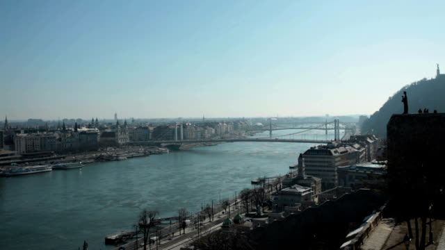 Budapest cityscape at morning - shot from Buda castle video