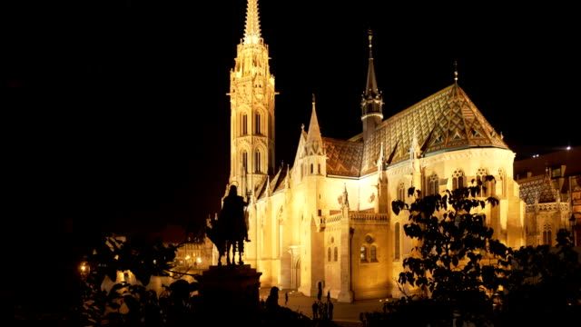 Budapest Matthias Church At Night video