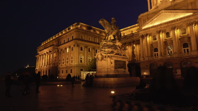 Budapest Royal Palace And Monument Of Prince Eugene Of Savoy video