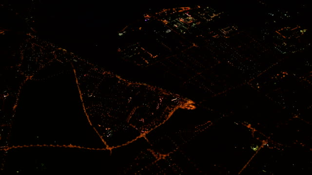 Budapest Suburbs Aerial View at Night video