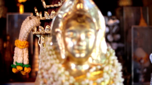 Buddha Image  Chiang Mai, Thailand Buddha Image in the Wat Phra That Doi Kham Temple near Chiang Mai in northern Thailand buddha stock videos & royalty-free footage