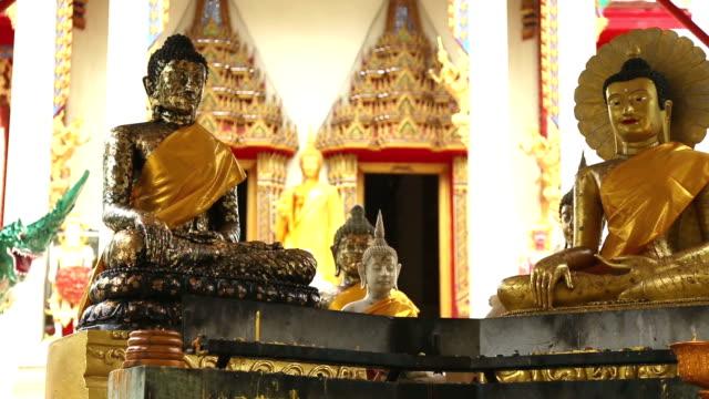 buddha images , portrait of gold buddha,thailand ,asia - buddha video stock e b–roll