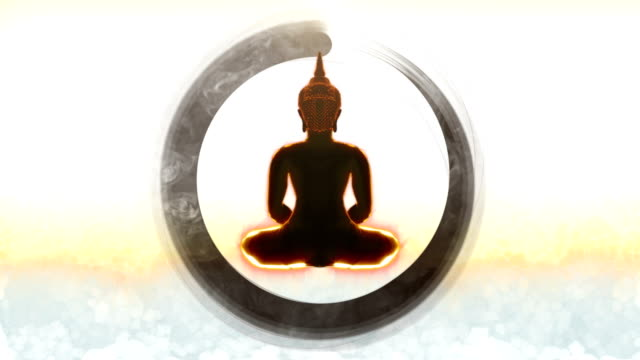 buddha-meditation - meditation icon stock-videos und b-roll-filmmaterial