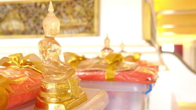 Buddha statue close up video