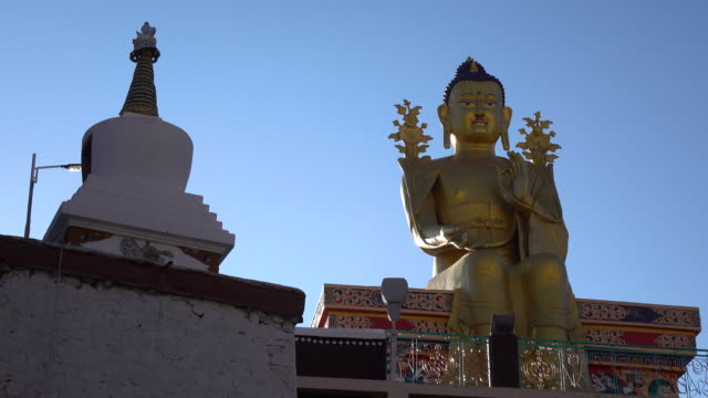 Buddha statue in Likir monastery, Leh Ladakh, Jammu and Kashmir, India video