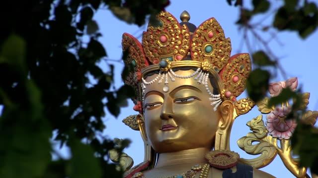 Buddha statue in Swayambhunath video