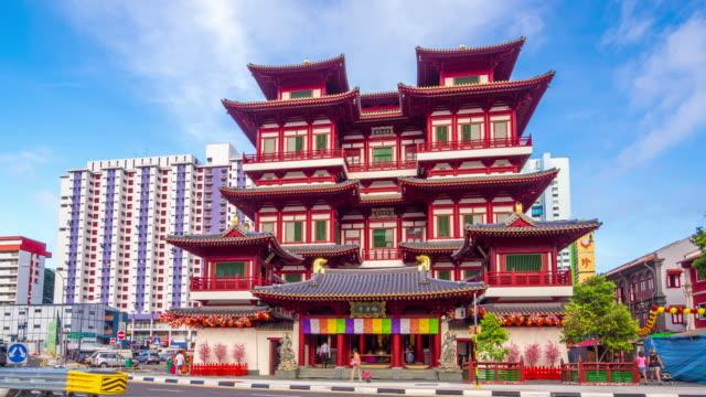 tempio del buddha di dente felice reliquia, singapore - buddha video stock e b–roll