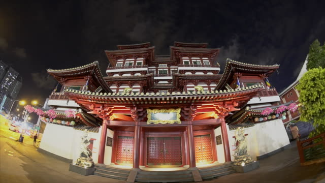 Buddha's Relic Tooth Temple in Singapore Chinatown video