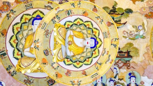 animazione motivo buddismo - buddha video stock e b–roll