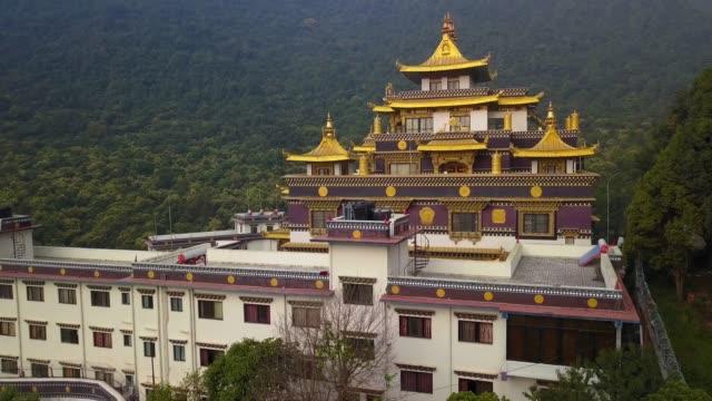buddhist monastery, kathmandu valley, nepal - october 16, 2017 - buddha video stock e b–roll