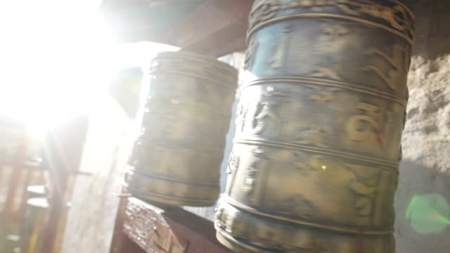 Buddhist prayer drums in Mongolia video