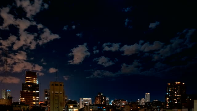 buenos aires at night - palermo città video stock e b–roll