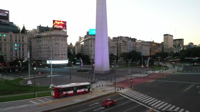 buenos aires empty on quarantine - argentyna filmów i materiałów b-roll