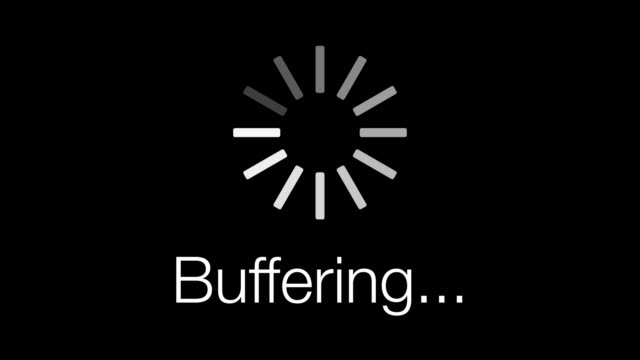 Buffering Loading Symbol - loop. 4K video